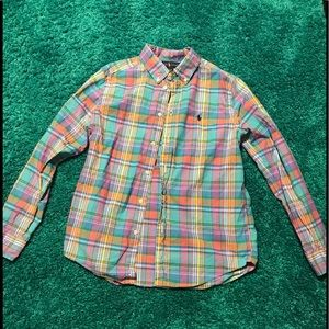 Boys plaid Ralph Lauren /Polo shirt